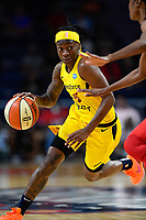 Washington, DC - Aug 8, 2019: Indiana Fever guard Erica Wheeler (17) drives to the basket during 1st half action of game between the Indiana Fever and the Washington Mystics at the Entertainment & Sports Arena in Washington, DC. (Photo by Phil Peters/Media Images International)