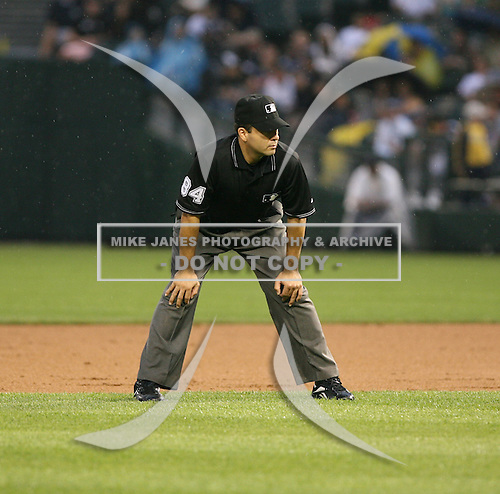 2007:  MLB Umpire Angel Campos at U.S. Cellular Field during an American League baseball game.  Photo copyright Mike Janes Photography 2007.