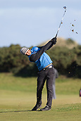 5th October 2017, The Old Course, St Andrews, Scotland; Alfred Dunhill Links Championship, first round; Aaron Rai of England hits a shot from the fairway on the fifteenth hole on the Old Course, St Andrews during the first round at the Alfred Dunhill Links Championship