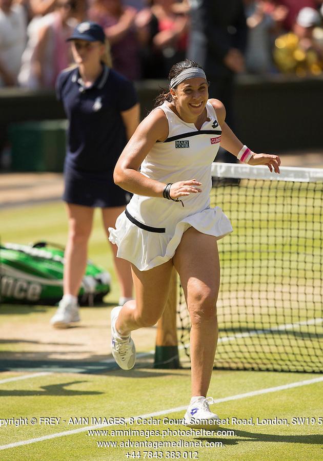 Marion Bartoli<br /> <br /> Tennis - The Championships Wimbledon  - Grand Slam -  All England Lawn Tennis Club  2013 -  Wimbledon - London - United Kingdom - Saturday 6th July 2013. <br /> &copy; AMN Images, 8 Cedar Court, Somerset Road, London, SW19 5HU<br /> Tel - +44 7843383012<br /> mfrey@advantagemedianet.com<br /> www.amnimages.photoshelter.com<br /> www.advantagemedianet.com<br /> www.tennishead.net