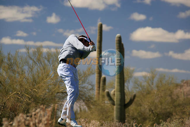 Bubba Watson (USA) in action on the 13th tee during Day 2 of the Accenture Match Play Championship from The Ritz-Carlton Golf Club, Dove Mountain, Thursday 24th February 2011. (Photo Eoin Clarke/golffile.ie)