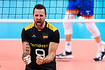 13.09.2019, Paleis 12, BrŸssel / Bruessel<br />Volleyball, Europameisterschaft, Deutschland (GER) vs. Serbien (SRB)<br /><br />Jubel Georg Grozer (#9 GER)<br /><br />  Foto © nordphoto / Kurth