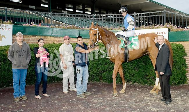 Kittty Kat Karly winning at Delaware Park on 10/18/12