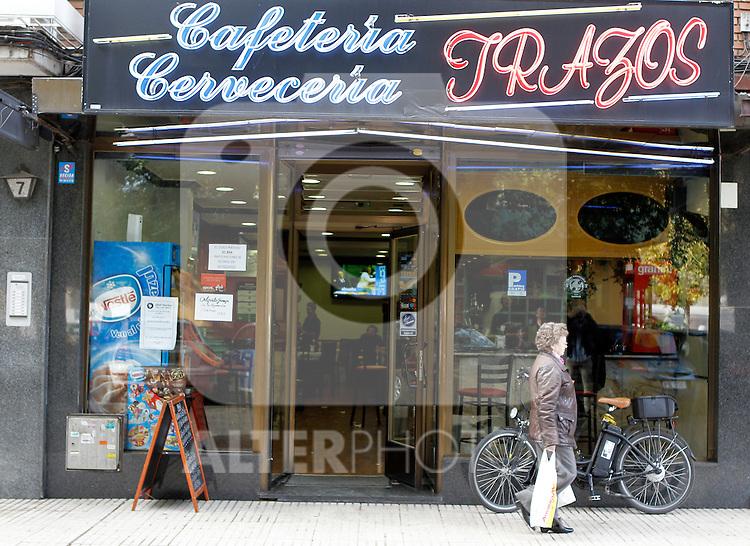 Bar Trazos,  to match story about Pinto the home town of Alberto Contador. October 28,2010. (ALTERPHOTOS/Alvaro Hernandez)