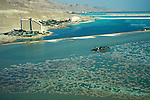 Israel, an aerial view of the Dead Sea