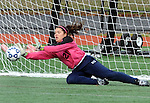 (Brockton MA 11/14/15) Medway 21, goalie Erin O'Rourke, with one of many big saves during the game with Dover-Sherborn, during  the division three south girls soccer final, Saturday, November 14, 2015, at Brockton High School. Herald Photo by Jim Michaud