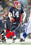 3 January 2010: Buffalo Bills' quarterback Ryan Fitzpatrick (14) in action gainst the Indianapolis Colts on a cold, snowy, final game of the season at Ralph Wilson Stadium in Orchard Park, New York. The Bills defeated the Colts 30-7. Mandatory Credit: Ed Wolfstein Photo
