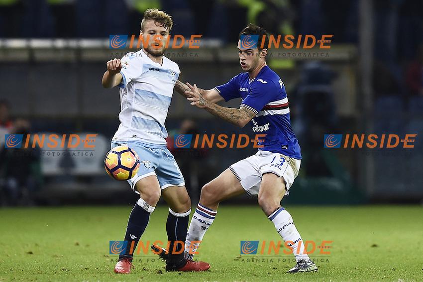 Ciro Immobile Lazio, Bruno Pereira Sampdoria <br /> Genoa 10-12-2016 Stadio Marassi Football Calcio Serie A 2016/2017 Sampdoria - Lazio foto Image Sport/Insidefoto
