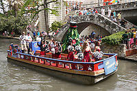 SAN ANTONIO, TX - APRIL 4:  The Stanford Band at the River Rally before Stanford's 73-66 win over Oklahoma in the Final Four semi-finals at the Alamo Dome on April 4, 2010 in San Antonio, Texas.