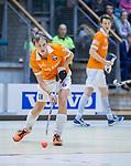 ROTTERDAM  - NK Reserve Hoofdklasse  Zaalhockey . Bloemendaal H2 - HDM H3 (4-3) . Pelle Vos. Bloemendaal kampioen COPYRIGHT KOEN SUYK