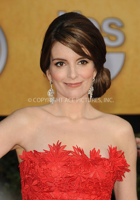 WWW.ACEPIXS.COM . . . . . ....January 30 2011, Los Angeles....Tina Fey arriving at the 17th Annual Screen Actors Guild Awards held at The Shrine Auditorium on January 30, 2011 in Los Angeles, CA....Please byline: PETER WEST - ACEPIXS.COM....Ace Pictures, Inc:  ..(212) 243-8787 or (646) 679 0430..e-mail: picturedesk@acepixs.com..web: http://www.acepixs.com