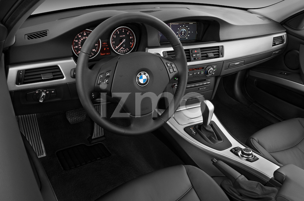 High angle dashboard view of a  2009 bmw 3 series wagon 328