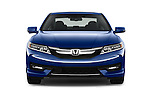 Car photography straight front view of a 2016 Honda Accord Touring 2 Door Coupe Front View