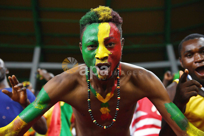 A Mali supporter cheers for his team ahead of the 2017 Africa Cup of Nations group D football match between Mali and Egypt in Port-Gentil on January 17, 2017. Photo by Stranger