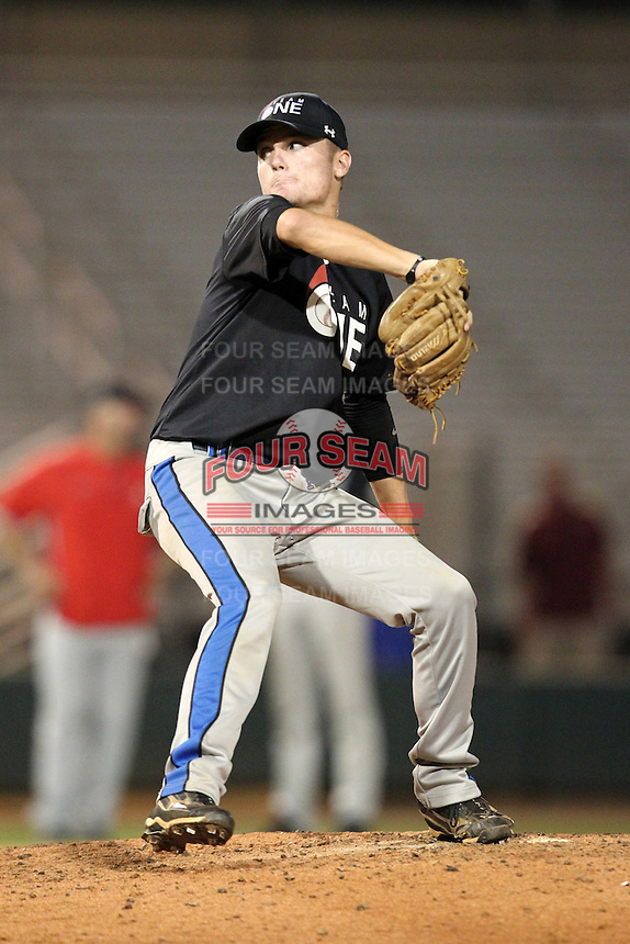 Sean Brady during the Team One Futures Showcase East at Roger Dean Stadium on October 1, 2011 in Jupiter, Florida.  (Mike Janes/Four Seam Images)