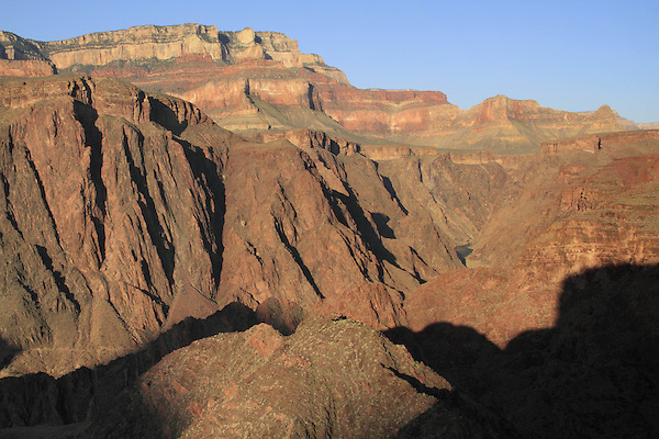 Above Phantom Ranch Campground and the Colorado River along the  Clear Creek Trail on the Tonto Plateau, Grand Canyon National Park, northern Arizona, USA .  John offers private photo tours in Grand Canyon National Park and throughout Arizona, Utah and Colorado. Year-round.