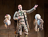 The Barber of Seville <br /> by Rossini <br /> English National Opera, London Coliseum, London, Great Britain <br /> Rehearsal <br /> 25th September 2015 <br /> <br /> <br /> <br /> Morgan Pearce as Figaro <br /> <br /> <br /> Photograph by Elliott Franks <br /> Image licensed to Elliott Franks Photography Services