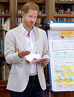 Prince Harry at Dr Jane Goodalls Roots and Shoots Global Leadership Meeting