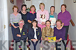 PIctured at the presentation of prizes at the Christina Stoll competition in Beaufort Golf Course on Friday night were Gerry Collins, president, Margaret Lanigan, lady captain, Christina Stoll, sponsor, Nina Pagot, winner, Renee Clifford, Mairead Courtney, Agnes O'Neill, Marian Daly, Joan O'Sullivan and Irene McCarthy...NO FEE..