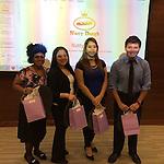 "Dec. '14 1st Place Winners - ""Nutty Dough"" bakery, L-R: Sophia Simmons, Clarissa Trevino, Belen Mendoza, & Antony Ramos"