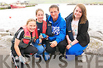 Alyssa Heasman, Camilla O'Connor, Ryan O'Connor and Mary Kate Heasman, from the Maharees, at the Dingle Regatta on Saturday afternoon.