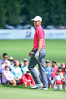 Jordan Spieth (USA) watches his chip barely miss on 9 during Saturday's round 3 of the World Golf Championships - Bridgestone Invitational, at the Firestone Country Club, Akron, Ohio. 8/5/2017.<br /> Picture: Golffile | Ken Murray<br /> <br /> <br /> All photo usage must carry mandatory copyright credit (&copy; Golffile | Ken Murray)