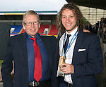 St Johnstone FC Player of the Year Awards...18.05.14<br /> Auchterarder Top Goalscorer to Stevie May presented by Neil Morris<br /> Picture by Graeme Hart.<br /> Copyright Perthshire Picture Agency<br /> Tel: 01738 623350  Mobile: 07990 594431