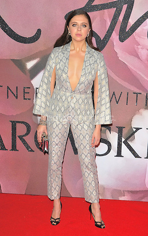Bel Powley at the Fashion Awards 2016, Royal Albert Hall, Kensington Gore, London, England, UK, on Monday 05 December 2016. <br /> CAP/CAN<br /> ©CAN/Capital Pictures /MediaPunch ***NORTH AND SOUTH AMERICAS ONLY***