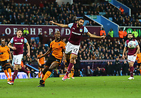 Ahmed Elmohamady of Aston Villa wins the ball from Willy Boly of Wolverhampton Wanderers <br /> <br /> Photographer Leila Coker/CameraSport<br /> <br /> The EFL Sky Bet Championship - Aston Villa v Wolverhampton Wanderers - Saturday 10th March 2018 - Villa Park - Birmingham<br /> <br /> World Copyright &copy; 2018 CameraSport. All rights reserved. 43 Linden Ave. Countesthorpe. Leicester. England. LE8 5PG - Tel: +44 (0) 116 277 4147 - admin@camerasport.com - www.camerasport.com