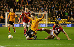 Joe Mason of Wolves is fouled by Nathan Baker of Bristol City - Football - Wolverhampton Wanderers vs Bristol City - Molineux Wolverhampton - Sky Bet Championship - 8th March 2016 - Season 2015/2016 - Picture Malcolm Couzens/Sportimage