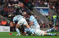 England's Nathan Hughes<br /> <br /> Photographer Rachel Holborn/CameraSport<br /> <br /> International Rugby Union Friendly - Old Mutual Wealth Series Autumn Internationals 2017 - England v Argentina - Saturday 11th November 2017 - Twickenham Stadium - London<br /> <br /> World Copyright &copy; 2017 CameraSport. All rights reserved. 43 Linden Ave. Countesthorpe. Leicester. England. LE8 5PG - Tel: +44 (0) 116 277 4147 - admin@camerasport.com - www.camerasport.com