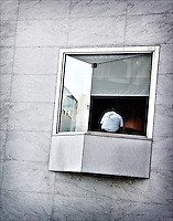 "In the window<br /> From ""Color Blind"" series. Miami, 2007"