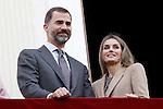Prince Felipe of Spain and Princess Letizia of Spain visit Caspe village on November 7, 2012 in Alcaniz, Teruel, Spain. (ALTERPHOTOS/Acero)