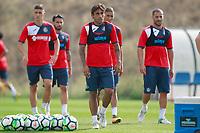 Getafe CF's Emiliano Velazquez, Chuli,  Damian Suarez, Faycal Fajr and Medhi Lacen during training session. August 1,2017.(ALTERPHOTOS/Acero) /NortePhoto.com