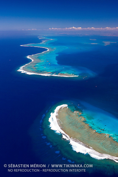Passe de Dumbéa entourée du Grand Récif Abore et Récif Mbere, Nouvelle-Calédonie