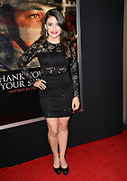 Daniela Bobadilla at the premiere for &quot;Thank You For Your Service&quot; at the Regal LA Live Theatre. Los Angeles, USA 23 October  2017<br /> Picture: Paul Smith/Featureflash/SilverHub 0208 004 5359 sales@silverhubmedia.com