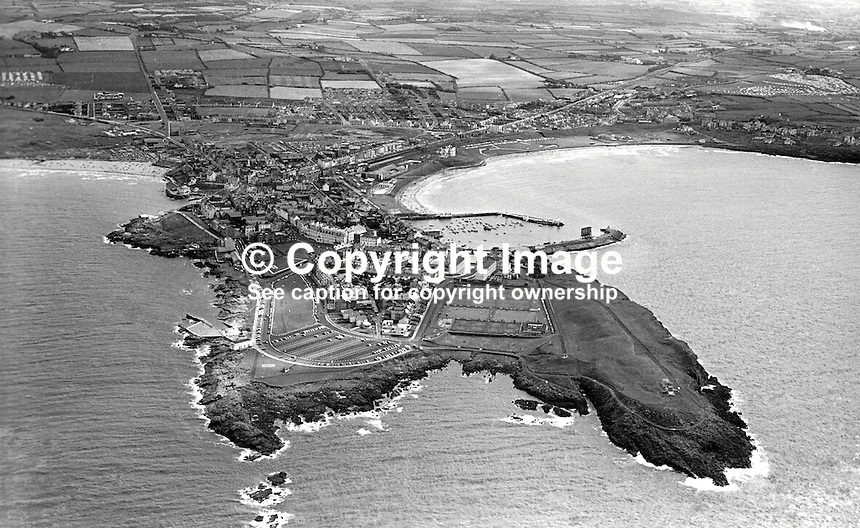 Aerial view of Portrush, Co Antrim, N Ireland, UK, taken 4th August 1976. 197608040336AV1<br />
