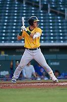 AZL Athletics Gold Cesarre Astorri (22) at bat during an Arizona League game against the AZL Cubs 1 at Sloan Park on June 20, 2019 in Mesa, Arizona. AZL Athletics Gold defeated AZL Cubs 1 21-3. (Zachary Lucy/Four Seam Images)