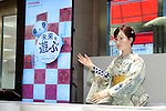 "Robot Aiko Chihira debuts as a receptionist at the Nihonbashi Mitsukoshi department store on April 20, 2015, Tokyo, Japan. The robot is being employed for two days to share information with customers about store events and the food court, on April 20th and 21st. From April 22nd the robot will be on show at a ""Play the future with Toshiba"" exhibition held in the store showing how new technology may change future life-style and future department stores. (Photo by Rodrigo Reyes Marin/AFLO)"