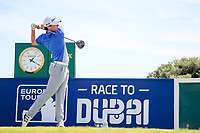 Ewen Ferguson (SCO) on the 1st during the 1st round of the 2017 Portugal Masters, Dom Pedro Victoria Golf Course, Vilamoura, Portugal. 21/09/2017<br /> Picture: Fran Caffrey / Golffile<br /> <br /> All photo usage must carry mandatory copyright credit (&copy; Golffile | Fran Caffrey)