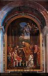 Last Communion of St Jerome Pietro Paolo Cristofari 1744 mosaic reproduction of Domenico Zampieri 1614 masterpiece canvas St Peter's Basilica Rome