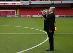 A lone Bulgar plays the last post during the Emirates FA Cup Round One match at Bramall Lane Stadium, Sheffield. Picture date: November 6th, 2016. Pic Simon Bellis/Sportimage