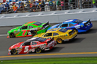 Dale Earnhardt, Jr. (#5), Sam Hornish, Jr. (#12), Danica Patrick (#7) and Ricky Stenhouse, Jr. (#6)