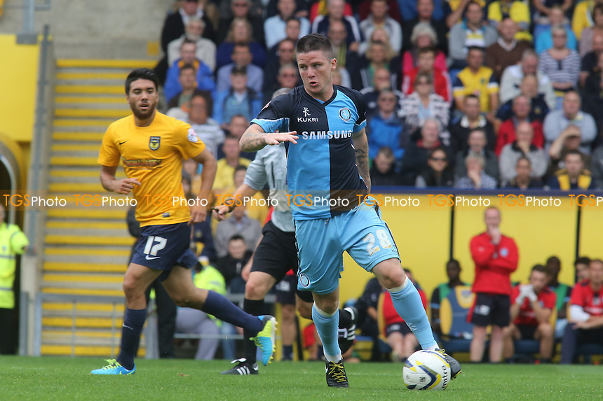 Billy Knott, Wycombe's recent loan signing from Sunderland - Oxford United vs Wycombe Wanderers - Sky Bet League Two Football at the Kassam Stadum, Oxford - 24/08/13 - MANDATORY CREDIT: Paul Dennis/TGSPHOTO - Self billing applies where appropriate - 0845 094 6026 - contact@tgsphoto.co.uk - NO UNPAID USE