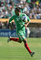 Ismael Rodriguez chases down the ball. Mexico defeated Nicaragua 2-0 during the First Round of the 2009 CONCACAF Gold Cup at the Oakland, Coliseum in Oakland, California on July 5, 2009.