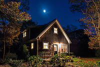 Cozy bungalow at night., Martha's Vineyard,