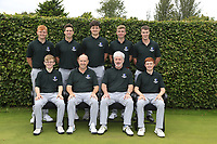 Interprovincial Championship Teams.<br /> Connacht Golf:<br /> Front: David Kitt, Joe Lyons, Diarmaid Caulfield Team Captain, Ronan Mullarney.<br /> Back Allan Hill, Alex Gleeson, TJ Ford, Sean Flanagan and Jack McDonnell.<br /> During the Interprovincial Championship 2018, Athenry golf club, Galway, Ireland. 30/08/2018.<br /> Picture Fran Caffrey / Golffile.ie<br /> <br /> All photo usage must carry mandatory copyright credit (&copy; Golffile | Fran Caffrey)