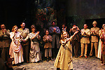 """Secret Garden cast curtain call - includes Liz Keifer and daughter Isabella Convertino as Philipstown Depot Theatre presents The Secret Garden on November 15, 2009 in Garrison, New York. The musical The Secret Garden is the story of """"Mary Lennox"""", a rich spoiled child who finds herself suddenly an orphan when cholera wipes out the entire Indian village where she was living with her parents. She is sent to live in England with her only surviving relative, an uncle who has lived an unhappy life since the death of his wife 10 years ago. """"Archibald's son Colin"""", has been ignored by his father who sees Colin only as the cause of his wife's death.This is essentially the story of three lost, unhappy souls who, together, learn how to live again while bringing Colin's mother's garden back to life. (Photo by Sue Coflin/Max Photos)........"""