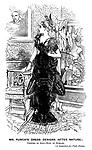 Mr. Punch's Dress Designs (After Nature). Costume du Soir - Robe en Homard. [A suggestion for Tight Dresses.