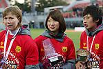 (L to R) .Becky (Leonessa), .Ayu Nakada (Leonessa), .Megumi Takase (Leonessa), .DECEMBER 24, 2012 - Football /Soccer : .The 34 Empress's Cup .between INAC Kobe Leonessa 1-0 Jef United Ichihara Chiba Ladies .at NACK5 Stadium Omiya, Saitama, Japan. .(Photo by YUTAKA/AFLO SPORT)